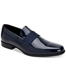 Calvin Klein Men's Demetrius Patent Leather Tuxedo Loafers