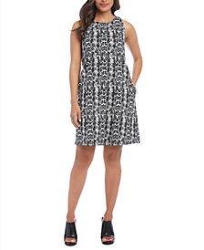 Karen Kane Sleeveless Snake Printed A-Line Dress