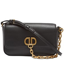 DKNY Linton Flap Demi Leather Crossbody, Created for Macy's