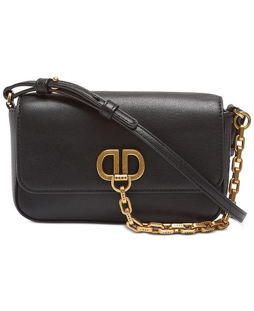 DKNY Linton Flap Demi Leather Crossbody, Created for Macy's