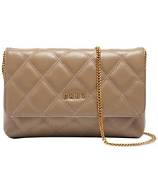 DKNY Sofia Leather Clutch Crossbody, Created for Macy's