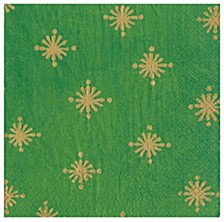 Starry Green Paper Cocktail Napkin