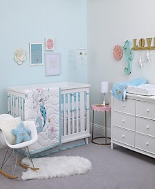 Disney Little Mermaid 3-Piece Crib Bedding Set