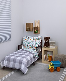 Woodland 4-Piece Toddler Bedding Set