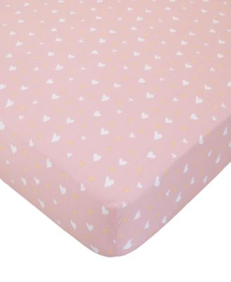 Cotton Tail Heart Print Crib Sheet
