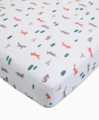 Carter's Cotton Sateen Crib Sheet - Fox Print
