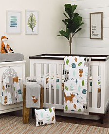 Nojo Woodland Friends 8-Piece Crib Bedding Set