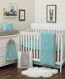Modern Safari 8-Piece Crib Bedding Set