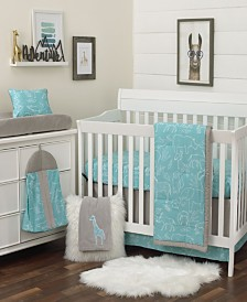 Nojo Modern Safari 8-Piece Crib Bedding Set