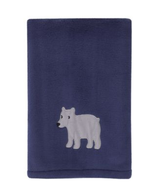 Explore Baby Bear Plush Blanket with Applique