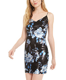 B Darlin Juniors' Sequined Sheath Dress, Created for Macy's