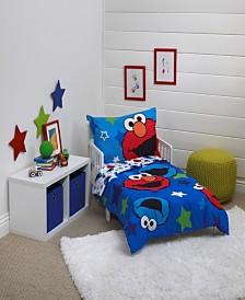 Sesame Street 4-Piece Toddler Bedding Set