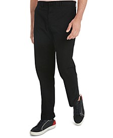 Men's Custom-Fit Tailored Stretch Chino Pants, Created for Macy's