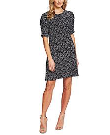 CeCe Printed A-Line Dress