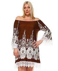 White Mark Women's Plus Size Mya Dress