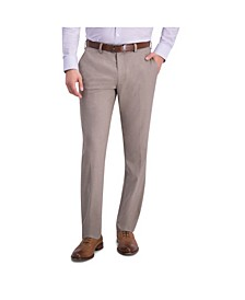 Comfort Stretch Sharkskin Slim Fit Flat Front Dress Pant