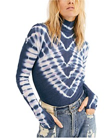 Psychedelic Turtleneck Top