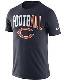 Nike Men's Chicago Bears Dri-Fit Cotton Football All T-Shirt