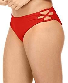 Juniors' Beach Classics Lace-Up Bikini Bottoms