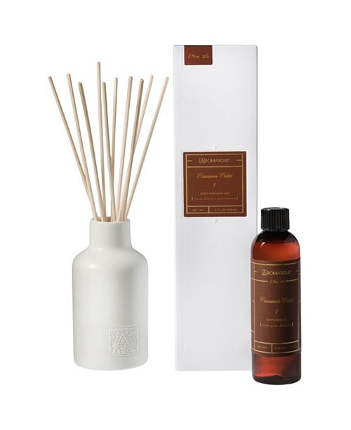 Aromatique Harvest Cinnamon Cider Reed Diffuser Set
