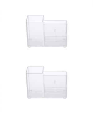 Kenney Bathroom Countertop Organizer, 4 Compartments, Set of 2 Bedding