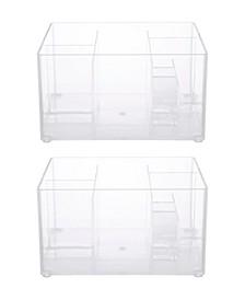 Drawer Organizer Bin, 8 Compartments, Set of 2