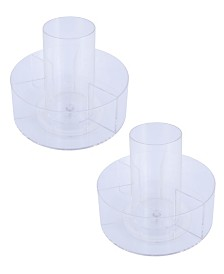 Kenney Lazy Susan Rotating Countertop Organizer, 5 Compartment, Set of 2