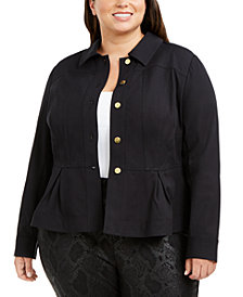 I.N.C. Plus Size Peplum Jacket, Created for Macy's