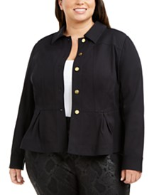 I.N.C. Plus Size Peplum Jacket, Created for Macy's