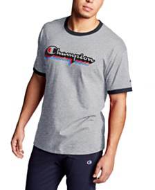 Champion Men's Logo Ringer T-Shirt