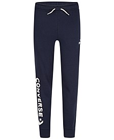 Big Boys Woodmark Logo-Print Fleece Joggers