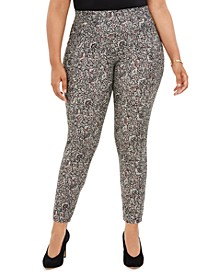 Plus Size Printed Pull-On Leggings