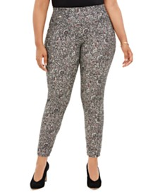 Michael Michael Kors Plus Size Printed Pull-On Leggings