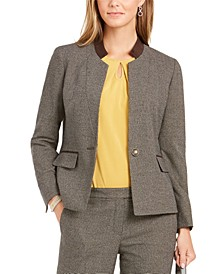 Houndstooth-Print Jacket