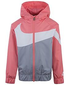 Toddler Girls Oversized-Swoosh Windrunner Jacket