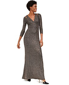 Cutout Glitter Gown