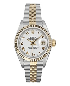 Ladies TT Datejust Jubilee With White Roman Dial