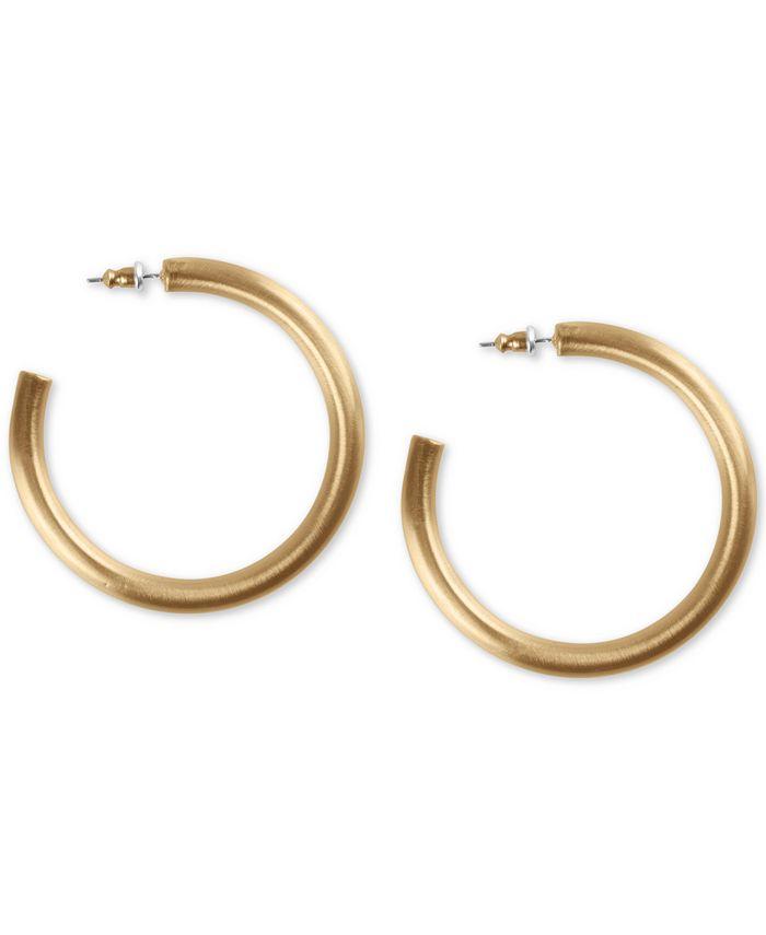 Lucky Brand - Gold-Tone Large Tubular Hoop Earrings