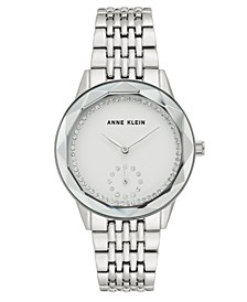 Women's Silver-Tone Bracelet Watch 34mm