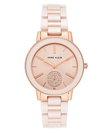 Women's Pink Ceramic Bracelet Watch 36mm