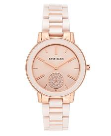 Anne Klein Women's Pink Ceramic Bracelet Watch 36mm