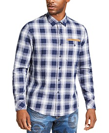 Men's Melange Plaid Shirt