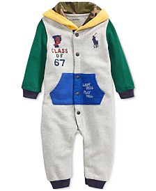 Polo Ralph Lauren Baby Boys Hooded Terry Coverall