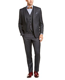 Men's Classic-Fit UltraFlex Stretch Gray Vested Suit Separates