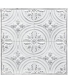 Vintage Metal Ceiling Tile Art