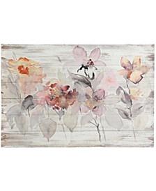 Fir Wood Flowers Traditional Print on Wood Panel Wall Art