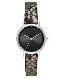 DKNY Women's Modernist Snake Print Strap Watch 32mm