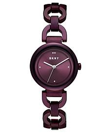 Women's Eastside Purple Stainless Steel Chain Bracelet Watch 30mm