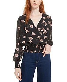 Floral-Print Surplice Top, Created for Macy's