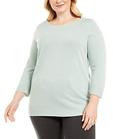 Plus Size Ballet Neckline Sweater, Created for Macy's